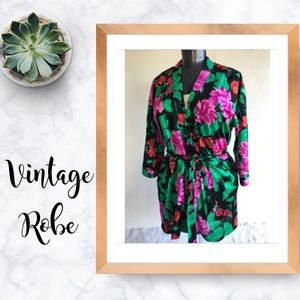 Vintage Roxanne Bra Sized Cover-up Belted Robe